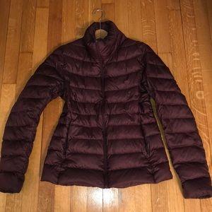 Burgundy Puffer Winter Jacket
